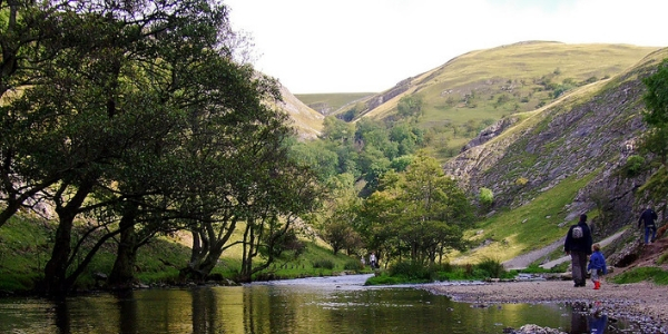 Image of walkers in Dovedale
