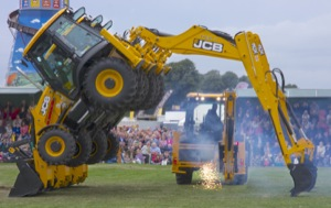 JCB Dancing Diggers at the 2013 Chatsworth Country Fair