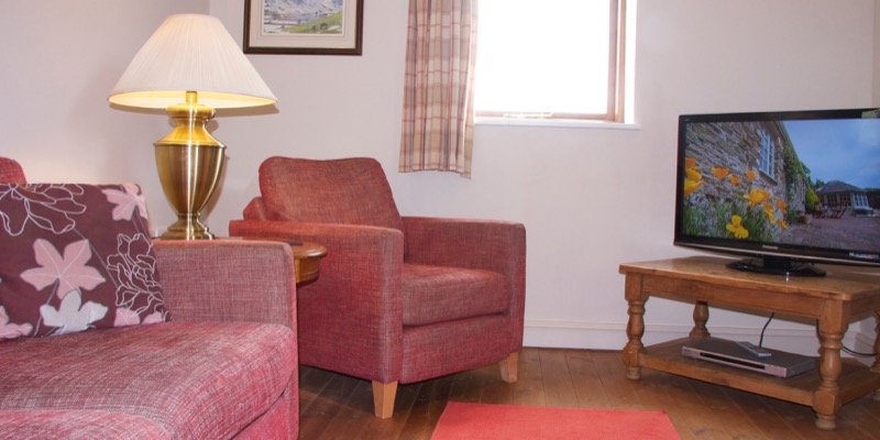 Byre holiday cottage lounge and hd tv