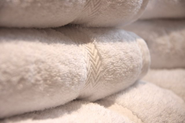 The Byre holiday cottage fluffy towels