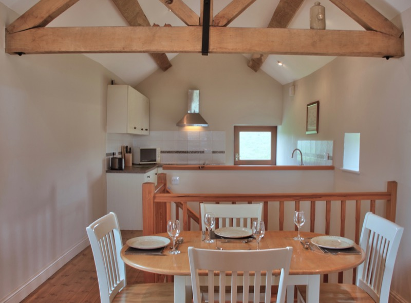 Byre holiday cottage open plan upstairs