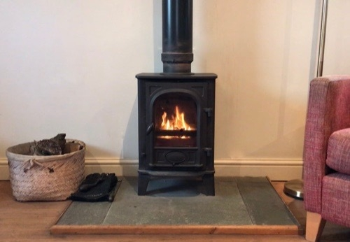 Byre Cottage wood burning stove
