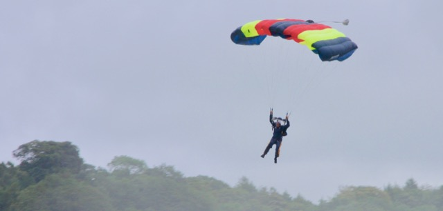 chatsworth country fair - parachutist