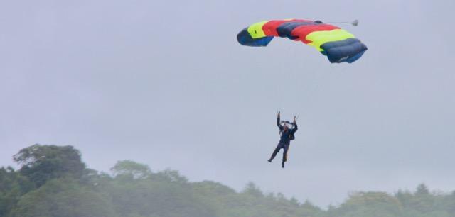 chatsworth country fair - parachutist