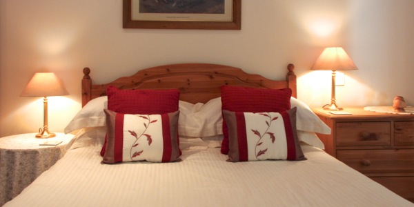 Hayloft Cottage comfortable double bed