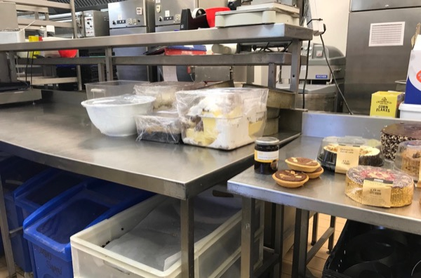 Behind the scenes in the bakery