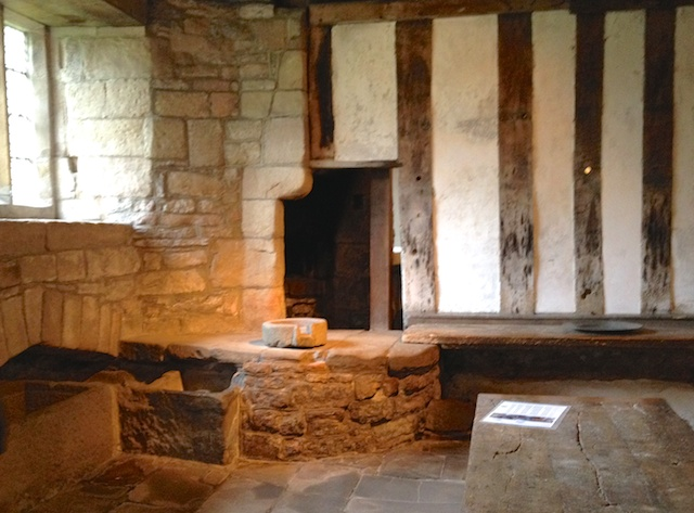 Part of the kitchens where water came into the building from a  spring