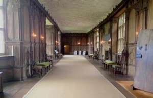 The long gallery added in Tudor times