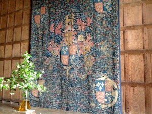 A tapestry given to the Vernon family by King Henry VIII