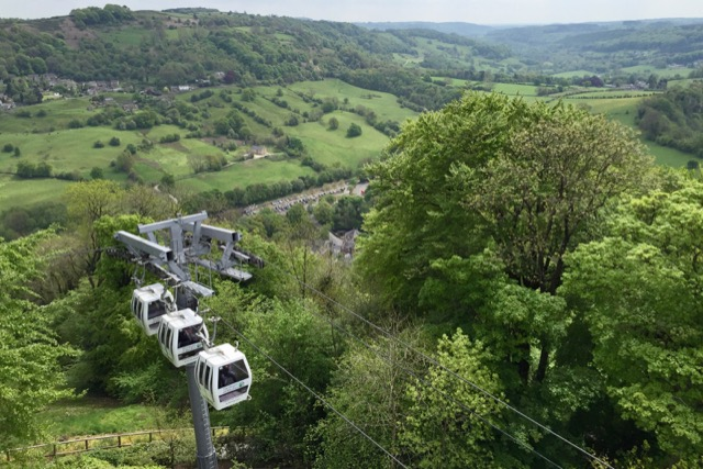Height of Abraham cable cars