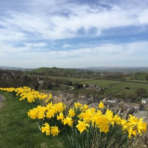 Overlooking Taddington in the spring