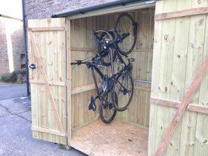 secure bike shed