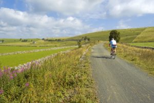 cycling along the tissington trail