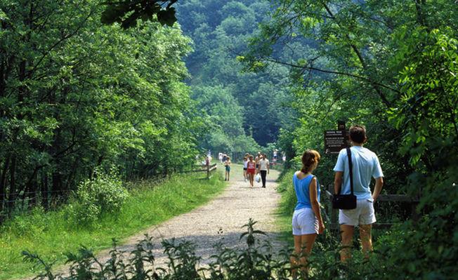 Walking along the Monsal Trail